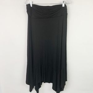 DJT Black Maxi Skirt with Elastic Waist